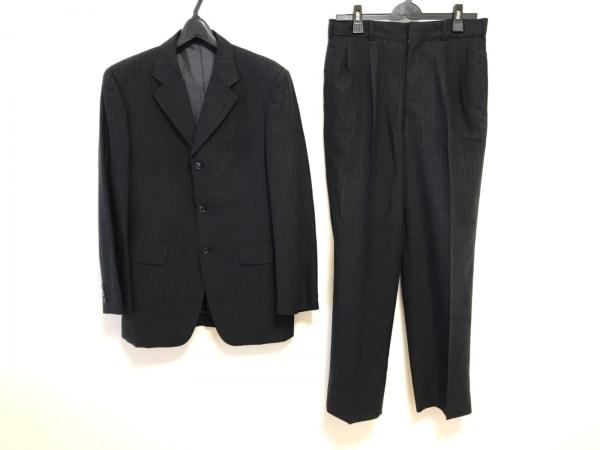 メンズビギ シングルスーツ サイズS メンズ ダークグレー×グレー REDA/ストライプ