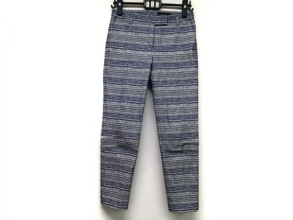 TOMORROWLAND(トゥモローランド) パンツ サイズ36 S レディース 黒×ブルー×マルチ