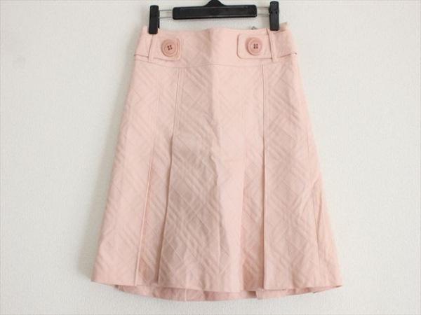 バーバリーブルーレーベル スカート サイズ36 S レディース美品  ピンク チェック柄