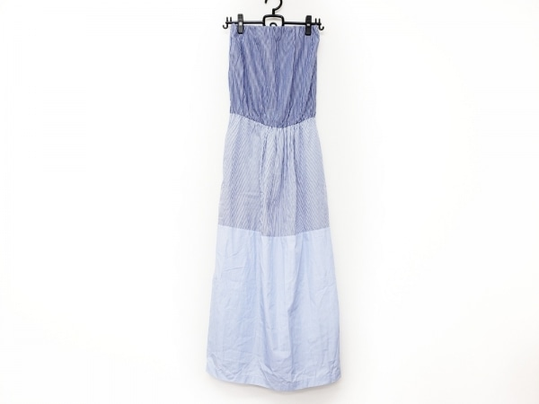セミクチュール ワンピース サイズ01 S レディース美品  ブルー×白×ライトブルー
