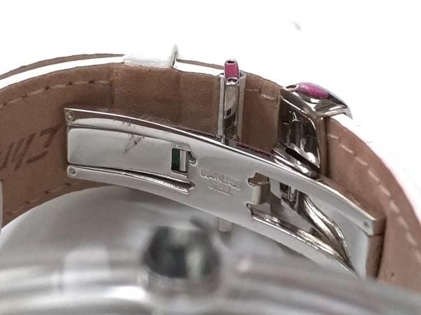 CHRONOTECH(クロノテック) 腕時計美品  - レディース 型押し加工/クリスタルケース 白