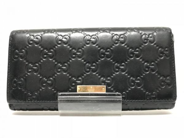 GUCCI(グッチ) 財布 シマライン 170426 黒 型押し加工 レザー