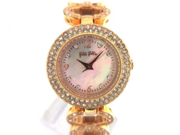 フォリフォリ 腕時計 WF1B036BS レディース シェル文字盤/ラインストーンベゼル