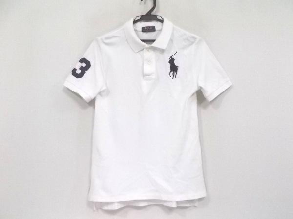 ポロラルフローレン 半袖ポロシャツ メンズ ビッグポニー 白×ダークネイビー