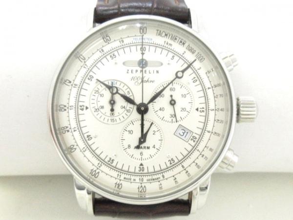 ツェッペリン 腕時計美品  7680 メンズ クロノグラフ/革ベルト/100周年記念モデル