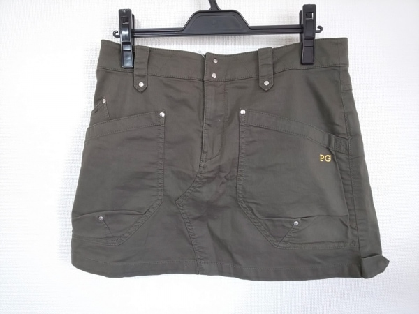 パーリーゲイツ ミニスカート サイズ2 M レディース美品  ダークグリーン