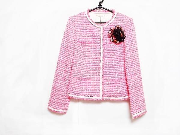 ポールスチュアート ジャケット サイズ6 M レディース美品  ピンク×白×黒