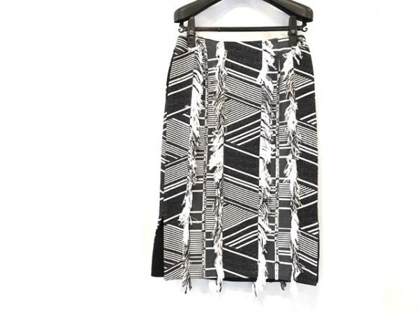 ADORE(アドーア) スカート サイズ38 M レディース美品  黒×白 フリンジ