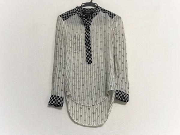 イザベルマラン 長袖カットソー サイズ36 S レディース 白×黒 シルク/シースルー