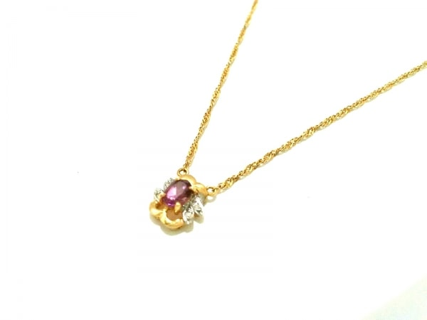 ノーブランド ネックレス美品  2931 1.5 K18×ダイヤモンド×カラーストーン