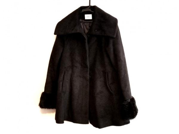 MURUA(ムルーア) コート サイズ1 S レディース 黒 フェイクファー/冬物