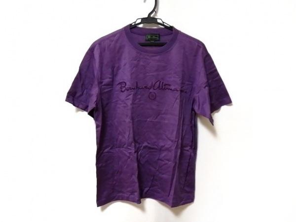 ベルンハルトウィルヘルム 半袖Tシャツ サイズLARGE L メンズ新品同様  パープル 刺繍