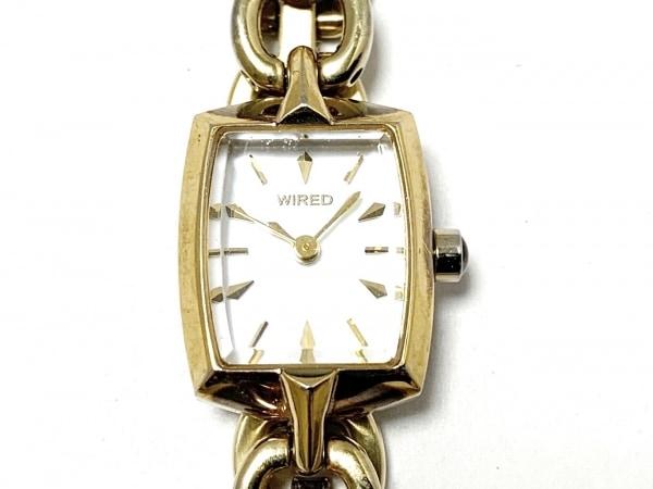 WIRED(ワイアード) 腕時計 1N01-0PA0 レディース シェル文字盤 白