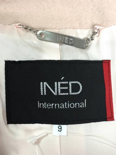 INED(イネド) コート サイズ9 M レディース美品  ライトピンク カシミヤ/冬物
