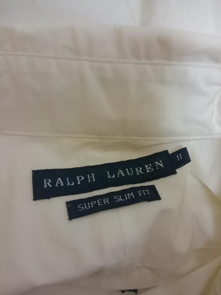 ラルフローレン 長袖シャツブラウス サイズ11 M レディース 白 SUPER SLIM FIT