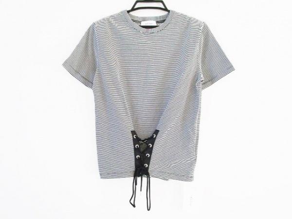 ミラオーウェン 半袖カットソー サイズ1 S レディース美品  黒×白 ボーダー