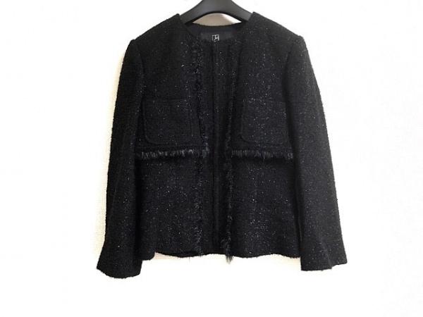 TAE ASHIDA(タエアシダ) ジャケット サイズ9 M レディース 黒 ジップアップ/ラメ