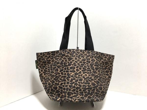 エルベシャプリエ ショルダーバッグ ライトブラウン×黒×ダークブラウン 豹柄