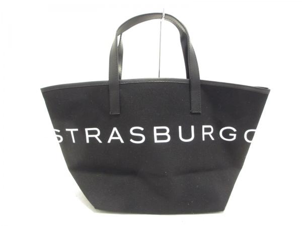 STRASBURGO(ストラスブルゴ) トートバッグ美品  黒×白 キャンバス×合皮