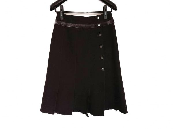 自由区/jiyuku(ジユウク) 巻きスカート サイズ38 M レディース美品  ダークブラウン