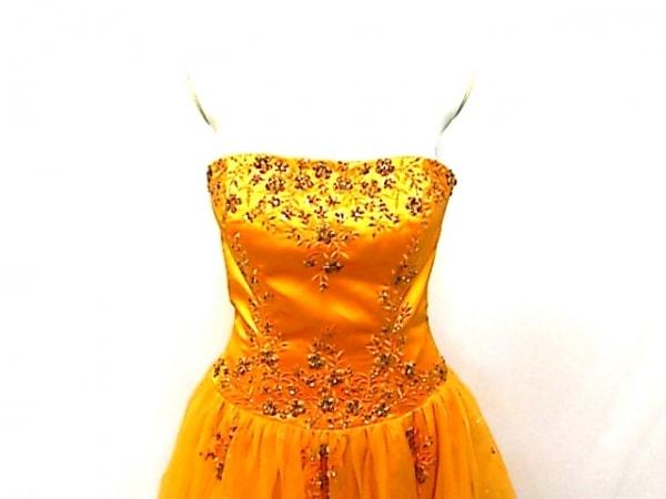 138d10062fd4d aimer(エメ) ドレス サイズ9 M レディース オレンジ ビーズ レース スパンコール