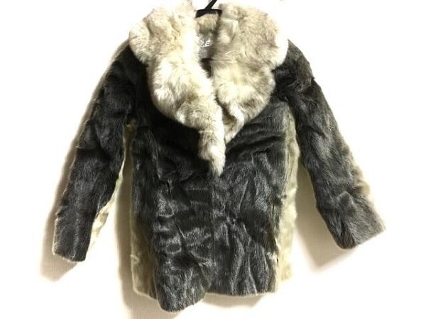 EMBA(エンバ) コート サイズ11-70 レディース アイボリー×ダークブラウン ネーム刺繍
