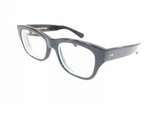 オリバーゴールドスミス メガネ美品  CONSUL 黒×クリア 度入り プラスチック