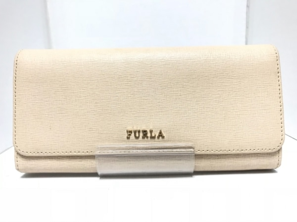 FURLA(フルラ) 長財布 ライトベージュ L字ファスナー レザー