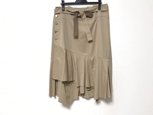 自由区/jiyuku(ジユウク) 巻きスカート サイズ48 XL レディース美品  ベージュ