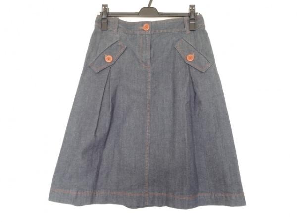 CELINE(セリーヌ) スカート サイズ36 S レディース ネイビー デニム