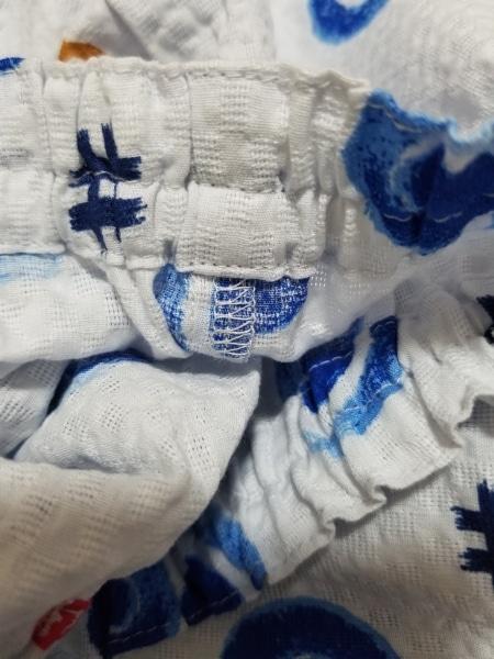 ミキハウス メンズセットアップ サイズ120 メンズ美品  ライトブルー×マルチ