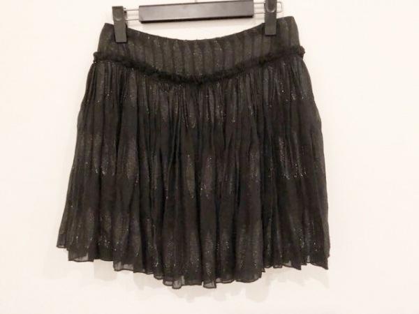 SEE BY CHLOE(シーバイクロエ) ミニスカート サイズ38 M レディース美品  黒 ラメ