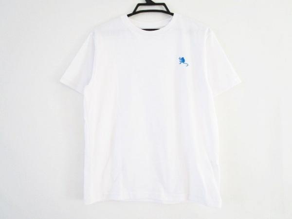 ノースフェイス 半袖Tシャツ サイズM メンズ 白×ライトグレー×ネイビー