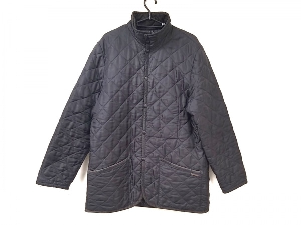 MEN'SBIGI(メンズビギ) コート サイズ03 L メンズ 黒 キルティング/LAVENHAM/冬物