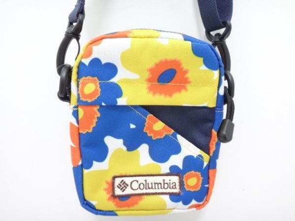 columbia(コロンビア) ショルダーバッグ ブルー×イエロー×マルチ 花柄 ナイロン