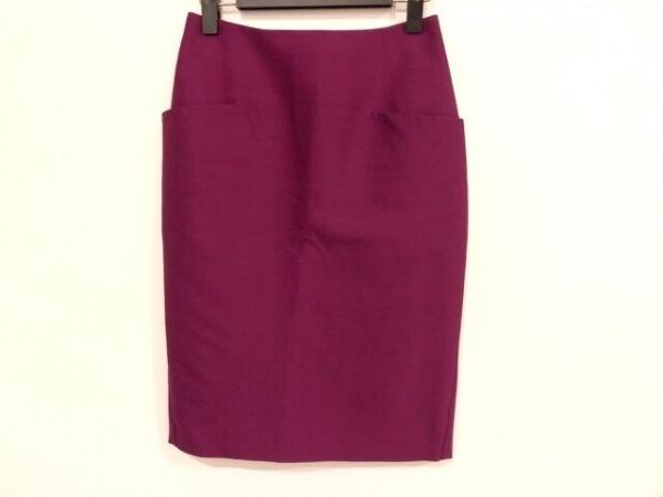 サポートサーフェス スカート サイズS レディース美品  パープル シルク混