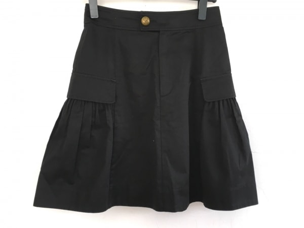 RalphLauren(ラルフローレン) スカート レディース美品  黒 ギャザー