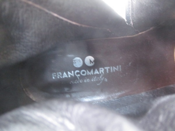 フランコマルティーニ ショートブーツ 37 レディース ダークブラウン レザー