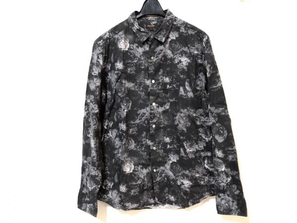 ポールスミス 長袖シャツ サイズL メンズ ダークグレー×ライトグレー 花柄