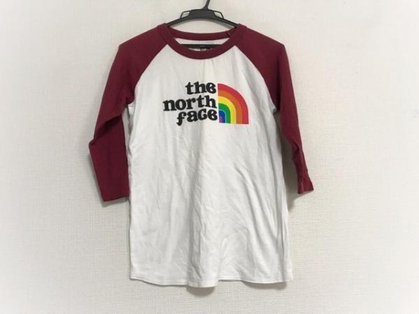 THE NORTH FACE(ノースフェイス) 七分袖Tシャツ サイズM レディース 白×レッド