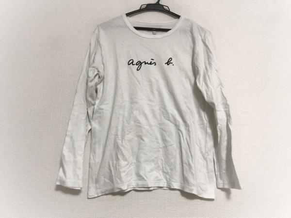 agnes b(アニエスベー) 長袖Tシャツ サイズT3 レディース 白×黒