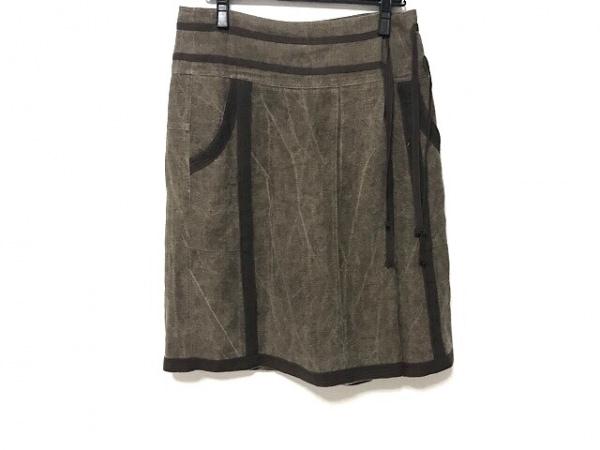 ドリスヴァンノッテン スカート サイズ36 M レディース ブラウン×ダークブラウン