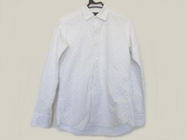 JOSEPH HOMME(ジョセフオム) 長袖シャツ サイズ44 L メンズ美品  白×グレー ドット柄