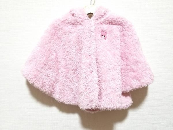 miki HOUSE(ミキハウス) ポンチョ サイズF レディース美品  ピンク