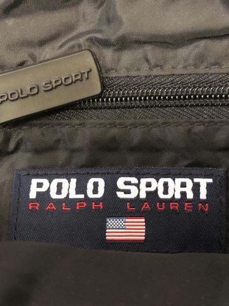 POLO SPORT(ポロスポーツ) ショルダーバッグ 黒×ライトグレー キャンバス