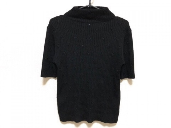 MADAM JOCONDE(マダムジョコンダ) 半袖セーター サイズMJ-9 レディース新品同様  黒