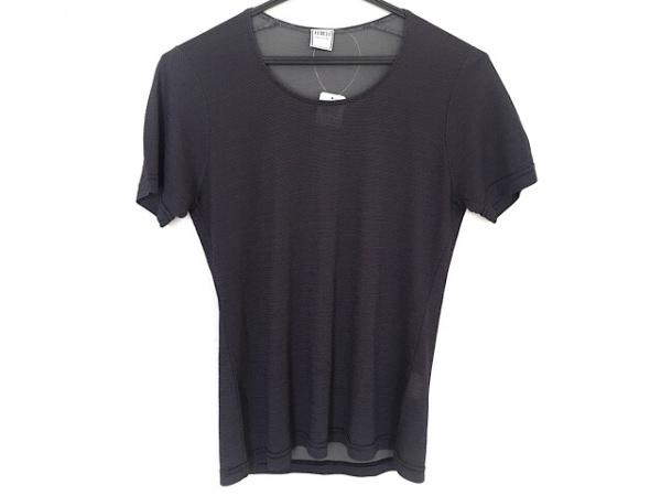 FEDELI(フェデリ) 半袖Tシャツ サイズ38 M レディース ダークネイビー×ダークグレー