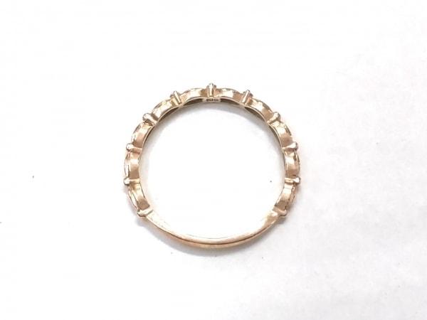 agete(アガット) リング美品  K10×ダイヤモンド 0.02Ct
