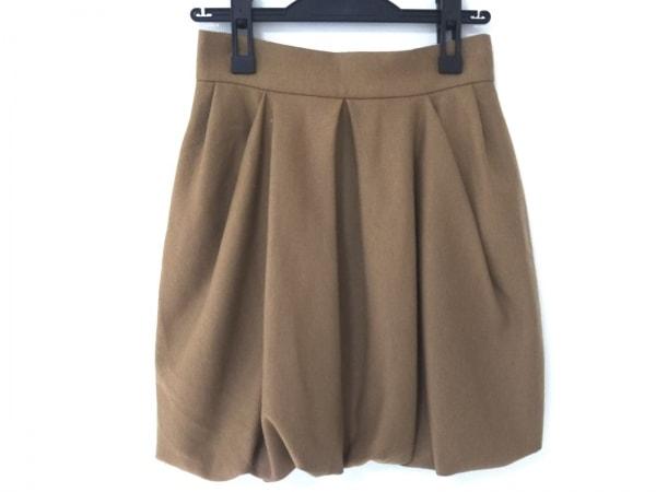 LANVIN en Bleu(ランバンオンブルー) スカート レディース美品  ブラウン プリーツ