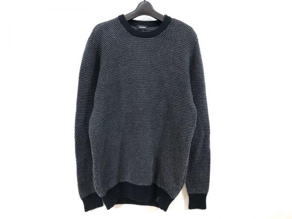 DIESEL(ディーゼル) 長袖セーター メンズ 黒×グレー